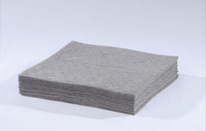 "25000 15"" x 18"" HEAVY-WEIGHT UNIVERSAL ABSORBENT PAD - Gray, 100/bag - F5970"