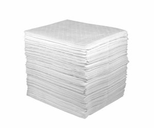 "82002 15"" x 18"" OIL ONLY LIGHT-WEIGHT ABSORBENT PAD - White, 200/bag - F5980"