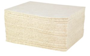 DURASOAK 15 x 19 OIL ONLY HEAVY-DUTY ABSORBENT PADS -  White, 100/case - F5984