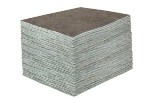 "DURASOAK 15"" x 19"" MEDIUM-DUTY UNIVERSAL ABSORBENT PAD - Gray, 100/case - F5986"