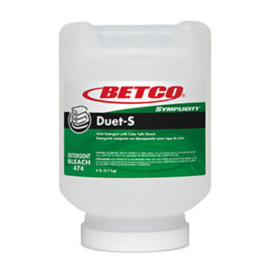 BETCO SYMPLICITY GREEN EARTH DUET-S SOLID LAUNDRY DETERGENT - 6lbs/tub, (2/case) - G3210