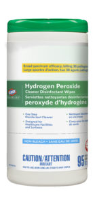 01456 CLOROX HEALTHCARE HYDROGEN PEROXIDE DISINFECTANT WIPES - 95/tub, (6/case) - G7300