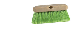 "10"" WASH BRUSH HEAD - GREEN BRISTLES (10/box) - G7405"