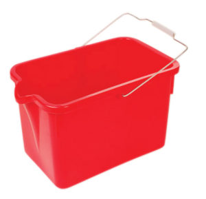12 qt GREY PLASTIC RECTANGULAR PAIL (6/case) - G7455