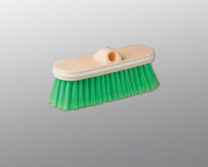 "M2 10"" GREEN WASH BRUSH w/VINYL BUMPER - HEAD (10/case) - G7549"