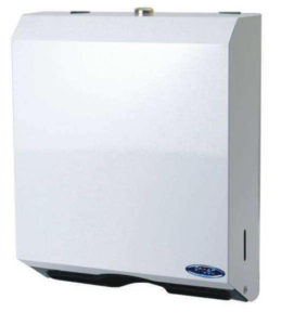 WHITE METAL MULTIFOLD TOWEL DISPENSER - H1772
