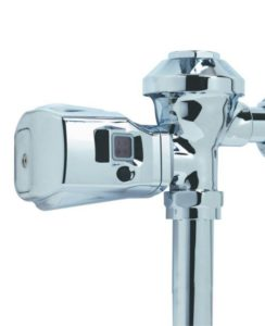 AUTO FLUSH CLAMP CHROME W/COURTESY FLUSH-TOILET - H1800