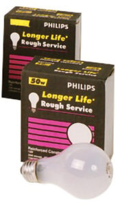 50A/RS/2P 50w INCANDESCENT ROUGH SERVICE BULB, (24/case) - M9015
