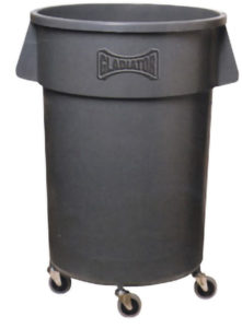 M2 44 gal ROUND WASTE CONTAINER - Grey - M9448