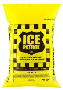 ICE PATROL PREMIUM ROCK SALT- 20 kg bag (56 bags/skid) - M9802