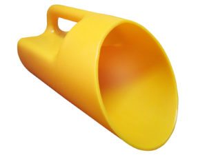 HEAVY DUTY PLASTIC UTILITY SCOOP - Yellow (6/case) - M9842