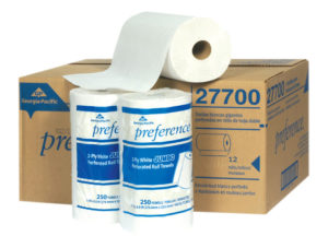 27700 2 PLY KITCHEN PAPER TOWELS - 250sht,  12 rolls/case - P1404