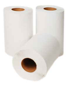 "P-H020A1 SELECT 7,5"" WHITE ROLL TOWELS - 205', 24 rolls/case - P1422"