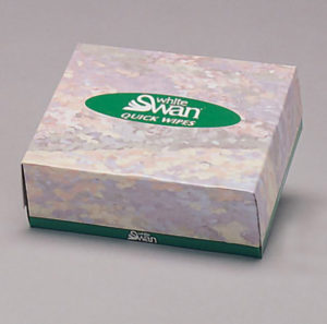 08500 WHITE SWAN 2 ply QUICK WIPES - 80sheets/box, 135 boxes/case - P1684