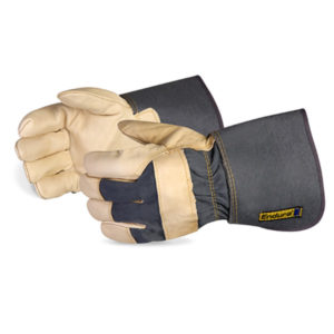 "FULL GRAIN COWHIDE FITTERS GLOVE w/4"" CUFF - S3997"
