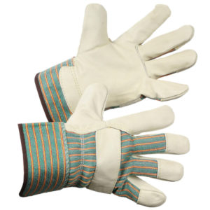 FORCEFIELD PIGSKIN LEATHER ECONOMY FITTERS GLOVE w/SAFETY CUFF - S3999