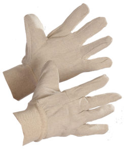 8 oz COTTON GLOVE w/KNIT WRIST, 12pairs/package (300pr/case) - S4016