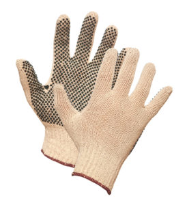 STRING KNIT GLOVE w/DOTS - LARGE (25dz/case) - S4034