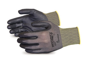 DEXTERIT BLACK FOAM NITRILE PALM COATED NYLON GLOVE, LARGE (12prs/pkg) - S4119