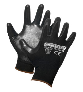 NITRILE COATED NYLON GLOVE - LARGE (10dz/case) - S4124
