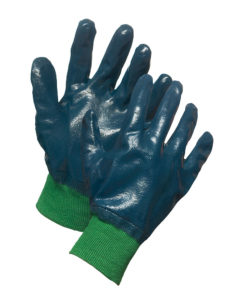 NITREX SUPPORTED NITRILE GLOVE w/KNIT WRIST - SIZE 10 - S4130