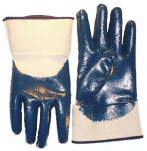 NITRILE PALM COATED GLOVE w/SAFETY CUFF, (72/case) - S4153