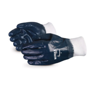 NITREX SUPPORTED NITRILE GLOVE w/KNIT WRIST - SIZE 8 - S4157