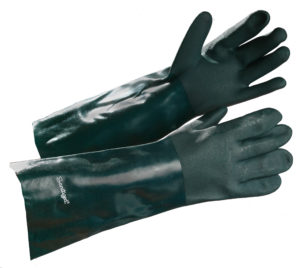 "18"" GREEN DOUBLE DIP PVC COATED GLOVE - S4158"
