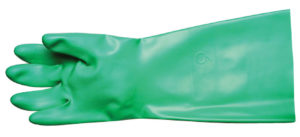"13"" GREEN FLOCK LINED NITRILE GLOVE - X-LARGE, 12pairs/package - S4176"