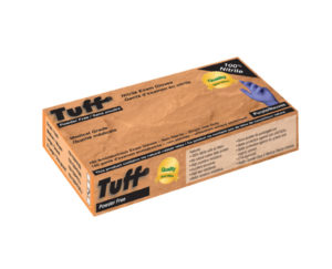 TUFF 3mil PURPLE PF NITRILE DISPOSABLE GLOVES, LARGE - 100/box (10boxes/case) - S4256