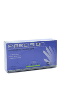 PRECISIO 4mil COBALT BLUE PF NITRILE GLOVES, LARGE - 100/box (10 boxes/case) - S4277