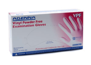 VPF 5mil PF VINYL EXAM GLOVES, MEDIUM - 100/box (10 boxes/case) - S4334
