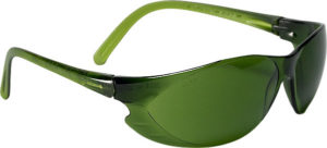 TWISTER MED GREEN SAFETY GLASSES (12/box) - S4432