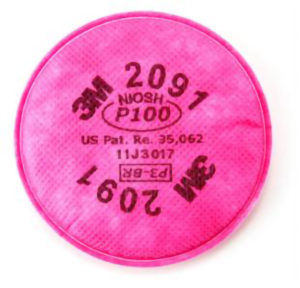 3M2091 - P100 FILTER FOR 3M6000 RESPIRATOR - S4658