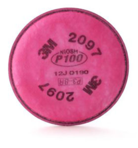 3M2097 - P100 FILTER FOR 3M6000 RESPIRATOR - S4660