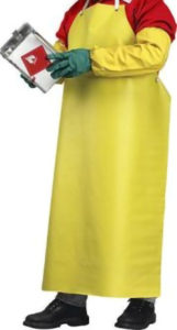 "35"" x 48"" YELLOW HD NEOPRENE APRON - S4700"