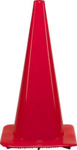 "28"" ORANGE TRAFFIC CONE w/BLACK BASE - S4723"