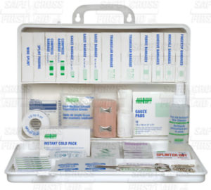 SEC 9 DELUXE FIRST AID KIT, PLASTIC BOX - S4805