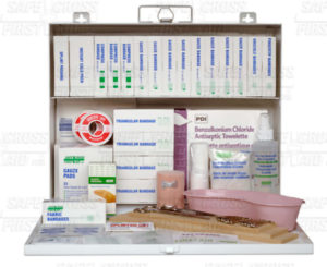 SEC 10 DELUXE FIRST AID KIT, #2 METAL CABINET - S4807