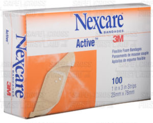 NEXCARE 3M ACTIVE FOAM BANDAGES - ASSORTED, 45/box - S4860
