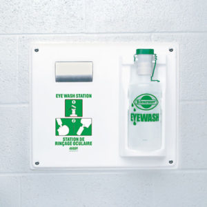 EYEWASH STATION w/32oz EMPTY BOTTLE - S4876