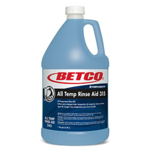 BETCO SYMPLICITY ALL-TEMP RINSE AID 315 - 4L (4/case) - T3212