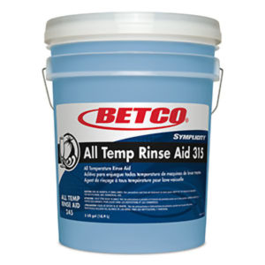 BETCO SYMPLICITY ALL-TEMP RINSE AID 315 - 18,9L - T3214