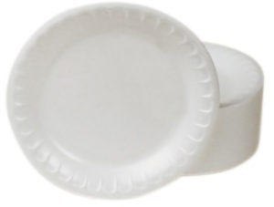 "TH1-0009 9"" SATINWARE FOAM DINNER PLATE - 500/Case - T3654"
