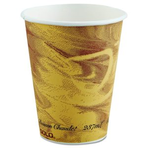 410MS-0029 SOLO 10oz PAPER HOT DRINK CUPS w/MYSTIQUE DESIGN, 1000/case - T3754