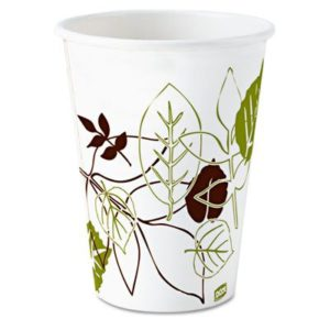 12PPATH DIXI 12oz PAPER COLD DRINK CUPS w/PATHWAYS DESIGN, 2400/case - T3788
