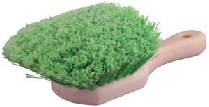 SHORT HANDLED BRUSH - SOFT GREEN BRISTLES - V10550
