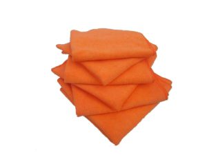 "16"" x 16"" ORANGE MICROFIBRE TOWEL - (10/pkg, 20pkg/case) - W10580"