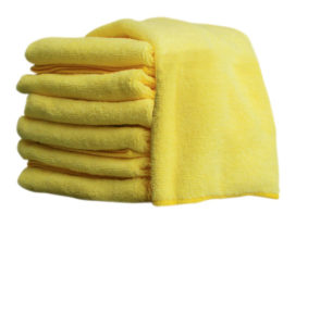 "16"" x 16"" YELLOW MICROFIBRE TOWEL - (10/pkg, 20pkg/case) - W10616"