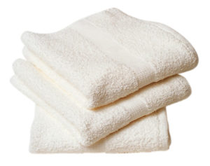 "16"" x 27"" WHITE TERRY TOWEL - (20/pkg) - W2400"
